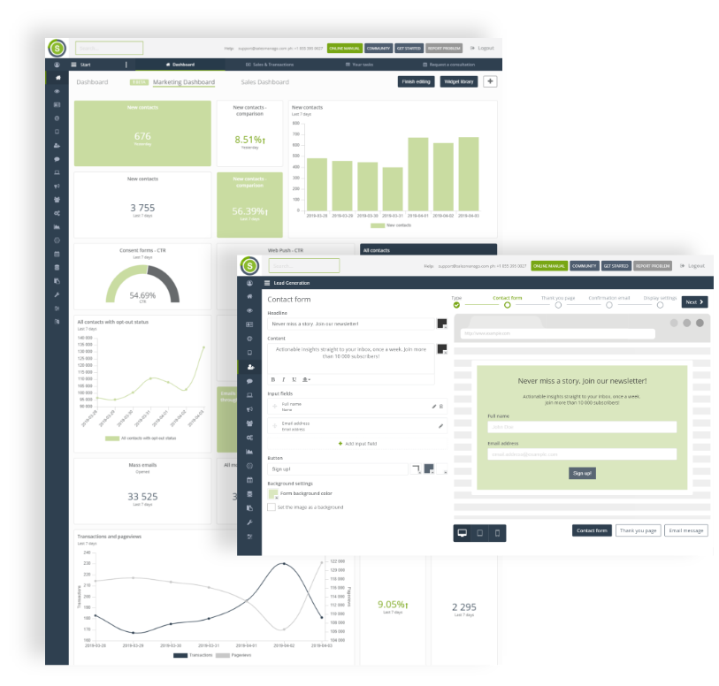 Dashboard Lead Generation